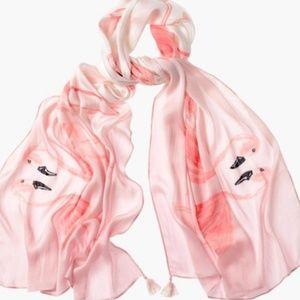Chicos Flamingo Scarf blush pinks - New!